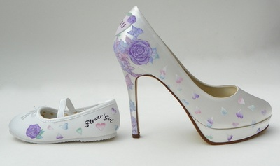 lilac rose wedding shoes