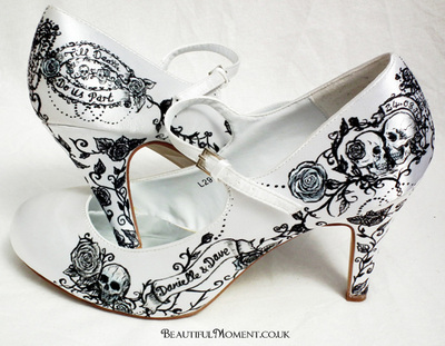 skull wedding shoes