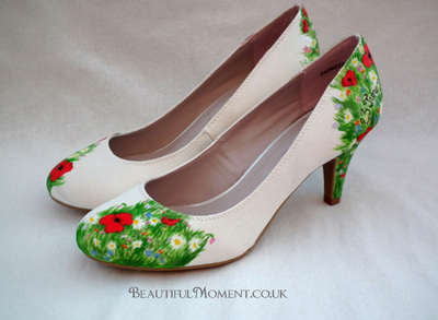 wildflower wedding shoes