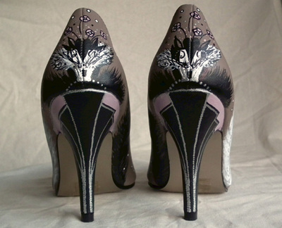 art deco bridal shoes