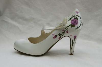 hand painted wedding shoes