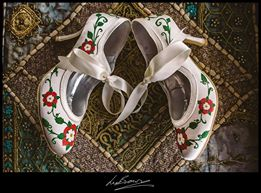 tudor rose wedding shoes