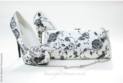 matching wedding shoes with bag
