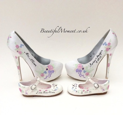 mother and daughter wedding shoes