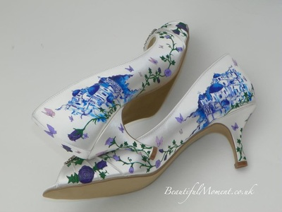 Santorini wedding shoes