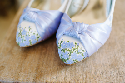 painted bridal shoes