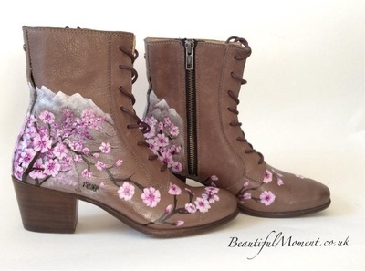 hand painted wedding boots