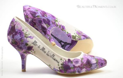 paris theme wedding shoes
