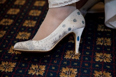 snowflakes wedding shoes
