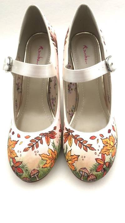 autumnal wedding shoes