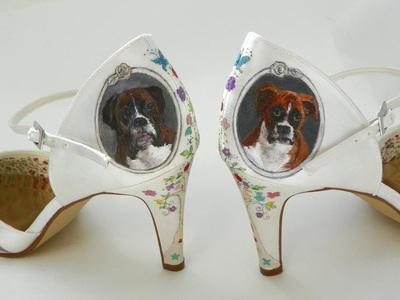 dog theme wedding shoes