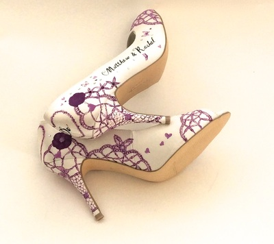 purple lace theme shoes
