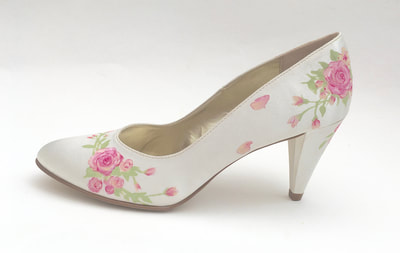 rose wedding shoes